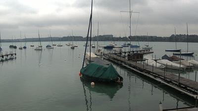 Current or last view from Wörthsee › West: Sportschifffahrtschule − Pension am See