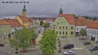 Waldmunchen: Marktplatz - Blickrichtung (N) zum Rathaus