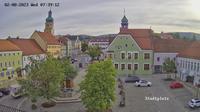 Waldmunchen: Marktplatz - Blickrichtung (N) zum Rathaus - Aktuell