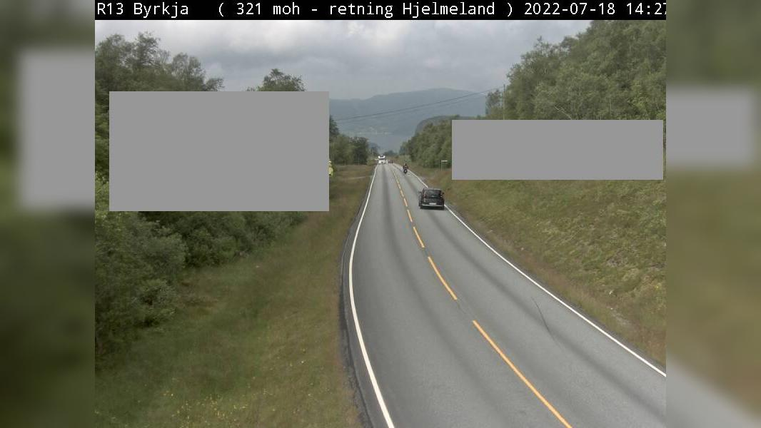 Webkamera Byrkja: R13 − Retning nord