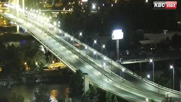 Webcam Novi Belgrade: Most na Adi − Bulevar Milutina Mila