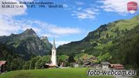 Ultima vista de la luz del día desde Schröcken: Blick nach Nordwesten