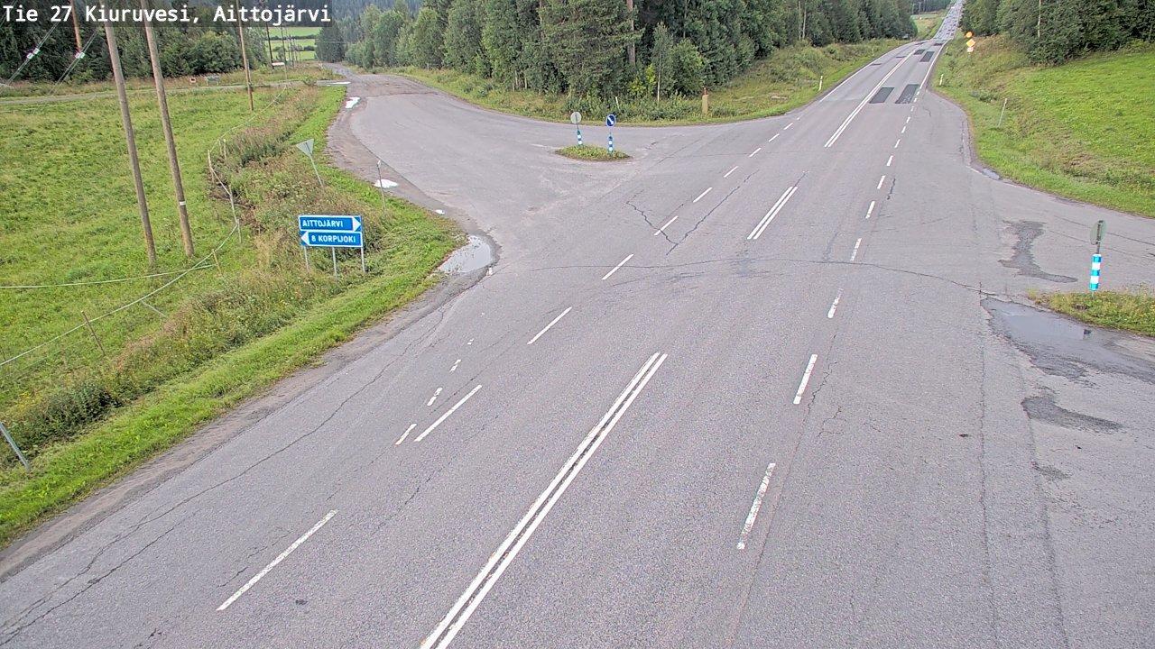 Webcam Kalliokylä: Tie 27 Kiuruvesi, Aittojärvi − Iisalme