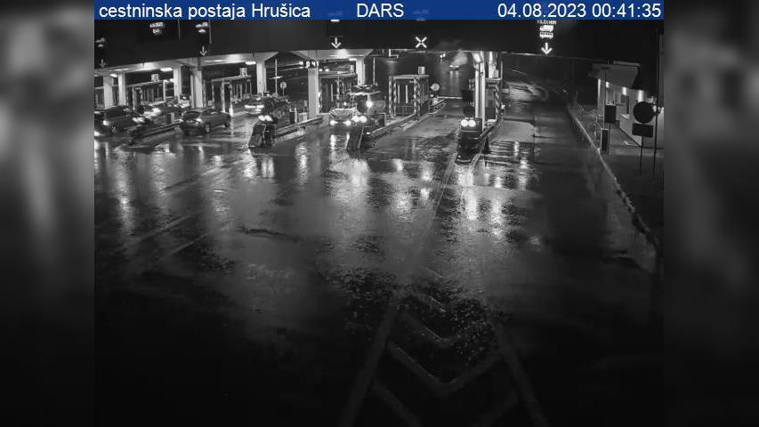 Webcam Hrušica: A2/E61, Karavanke − Ljubljana, cestninska