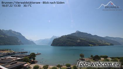 Brunnen SZ: Vierwaldstättersee - Blick nach Süden