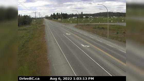 Webkamera Vanderhoof › West: Hwy 16 at Hwy 27 Junction, look