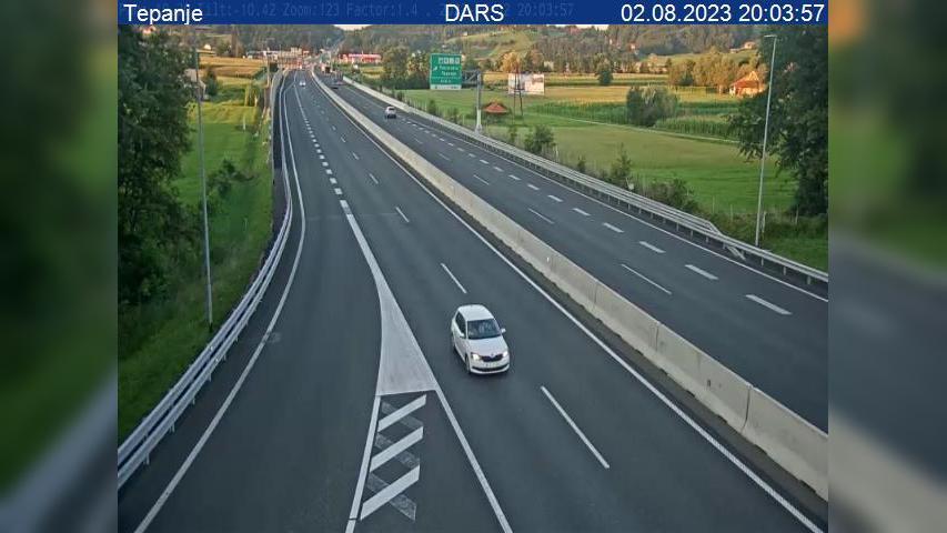 Webkamera Tepanje: A1/E57, Maribor − Ljubljana, cestninska p