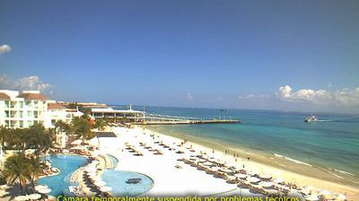 Vue webcam de jour à partir de Playa del Carmen: Playacar Palace Beach