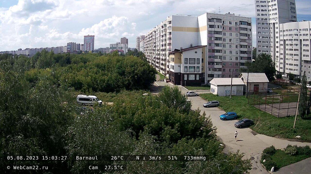 Webcam Мирный › North-West: Барнаул, Индустриальный район