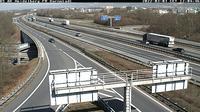 Heidelberg: A/E, bei Autobahnkreuz Heidelbg., Blickrichtung: Darmstadt - Overdag