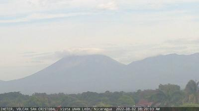Current or last view from Volcán San Cristóbal › North West: Chinandega
