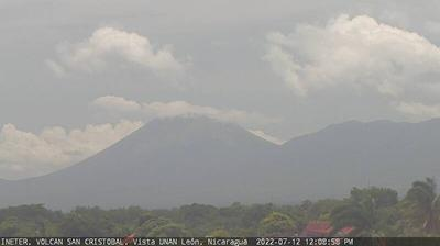 Daylight webcam view from Volcán San Cristóbal › North West: Chinandega