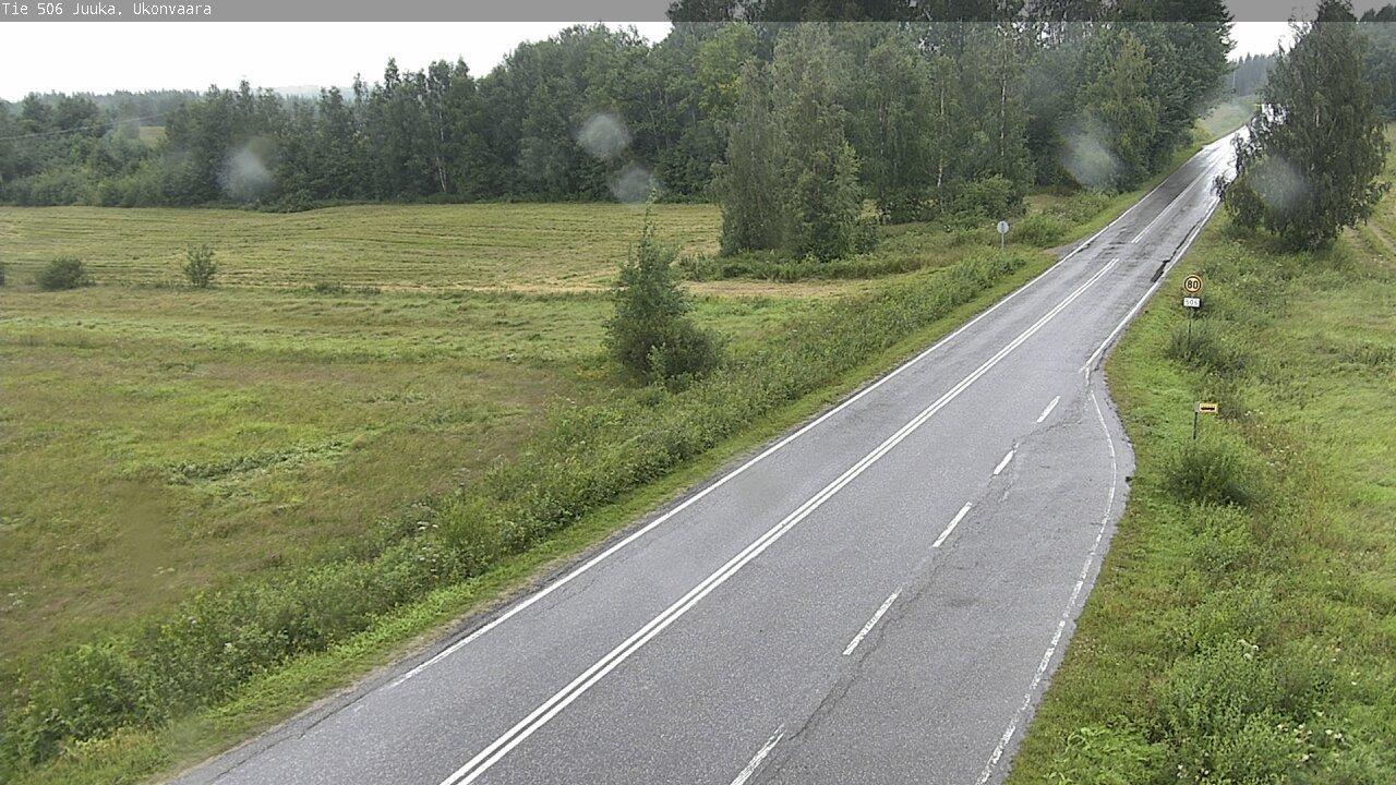 Webkamera Ukonvaara: Tie 506 Juuka − Outokumpuun