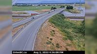 Delta > North: Hwy  (South Fraser Perimeter Rd) at Deltaport Way in South - looking north - Current