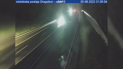 Current or last view from Sveti Jurij ob Scavnici: A, Maribor Lendava, cestninska postaja Dragotinci