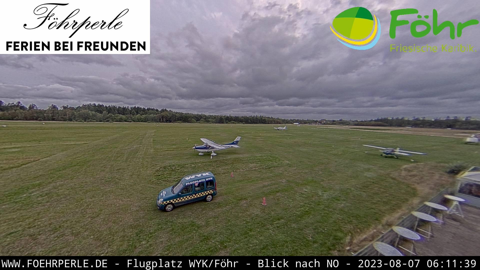Webcam Wyk auf Föhr: Wyk Airport View from Tower, NorthEA