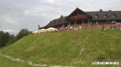 Vue webcam de jour à partir de Ustroń: Szczyt góry Równica