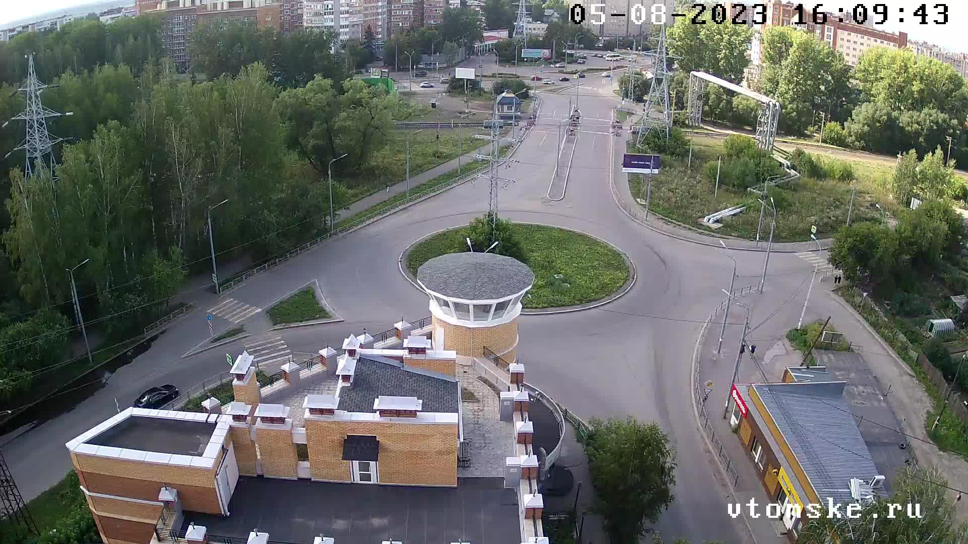 Webcam Tomsk: Площадь Южная − Мокрушинский переезд