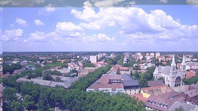 Tageslicht webcam ansicht von Subotica › North West: Franciscan Church − Otvoreni univerzitet − Sinagoga − Radijalac