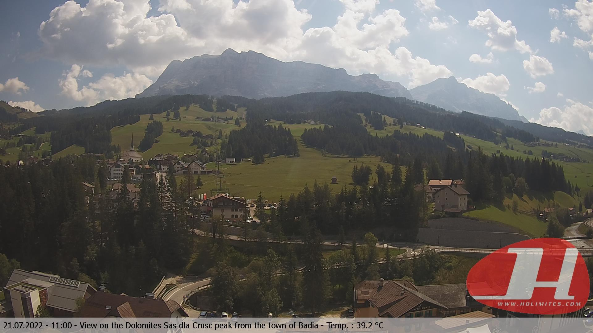 Webcam Abtei-Badia: Alta − Pedraces − Dolomites