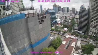Daylight webcam view from Bangkok: Skyline from Sathorn Road