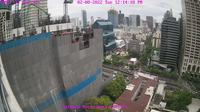 Bangkok: Skyline from Sathorn Road - Overdag