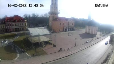 Daylight webcam view from Kamyanets Podilsky › South East: Old Town Hall