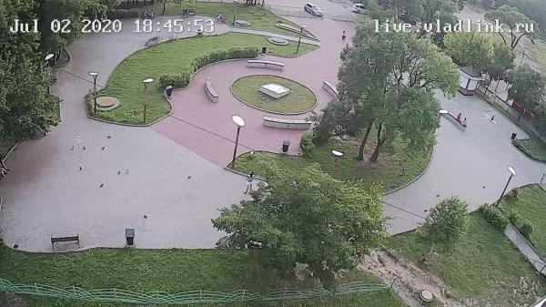 Webkamera Ussuriysk: Сквер на Стаханова