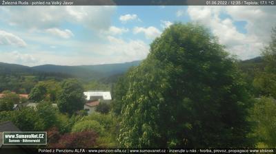 Vista de cámara web de luz diurna desde Zelezna Ruda › South West: Železná Ruda Großer Arber
