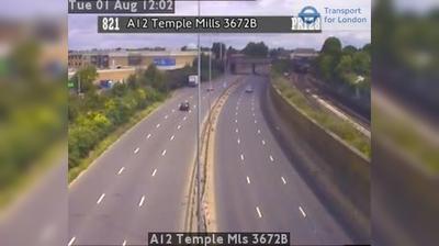 Vista de cámara web de luz diurna desde East London: A12 Temple Mls 3672B