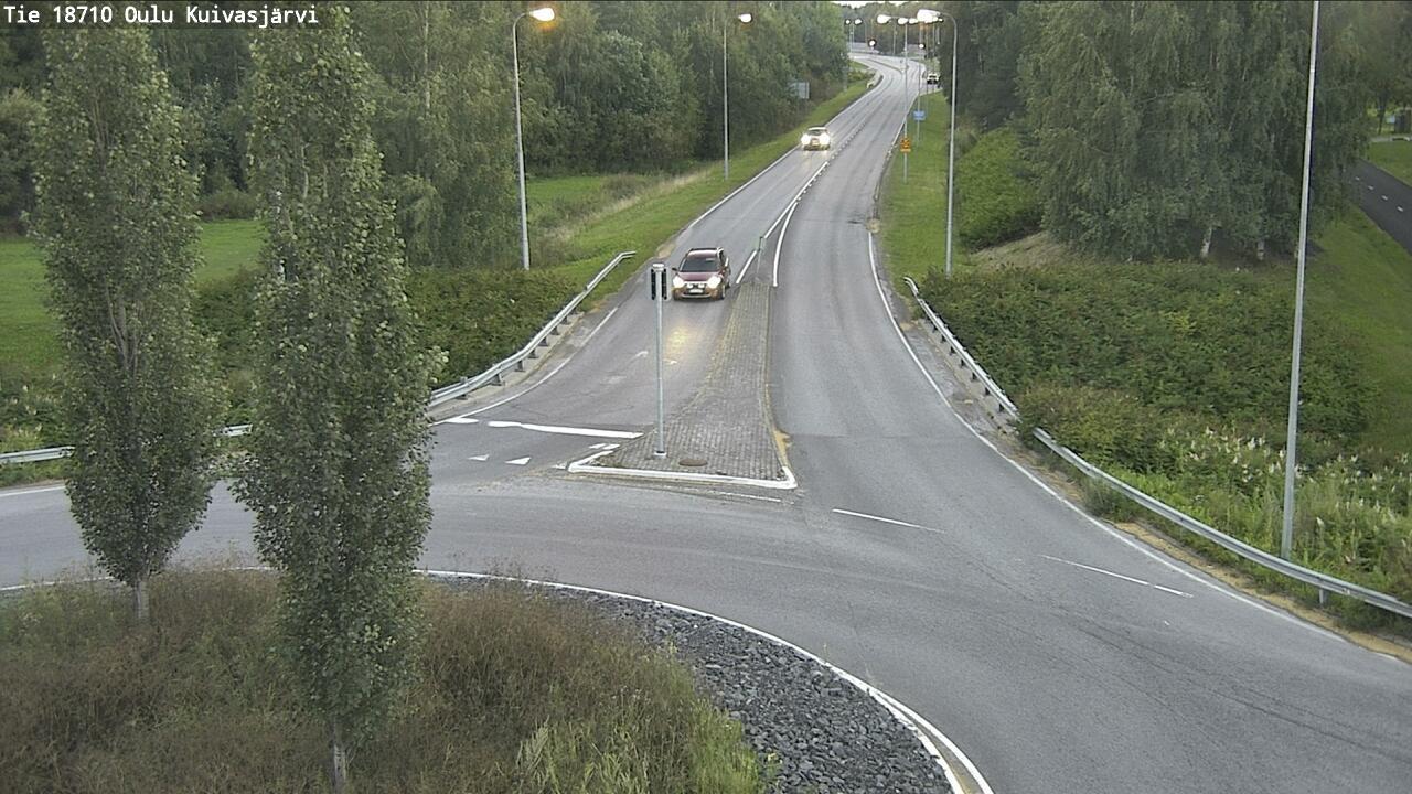 Webcam Oulu: tie 18710 − Kuivasjärvi − Pateniemi