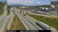 New Westminster > East: Hwy  (South Fraser Perimeter Rd) at Tannery Rd Overpass in Surrey, looking east - Dia