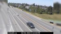 Delta > West: Hwy A, at Hwy  (Ladner Trunk Rd), looking west - Dia