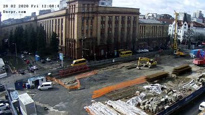 Tageslicht webcam ansicht von Dnipro: Heroiv Maidanu Square