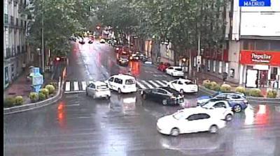 Webcam Serrano: calle Goya − calle Velazquez