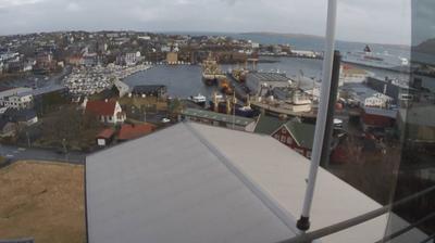 Daylight webcam view from Tórshavn: Faroe Klaksvik − Färöer Klaksvik