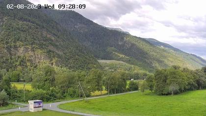 Raron: Air Zermatt - Station - Richtung Sion