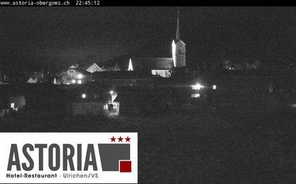 Ulrichen: Hotel Astoria mit Panoramablick über - Obergoms - Goms