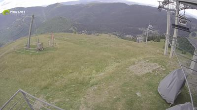 Vista de cámara web de luz diurna desde Donovaly: Nová hoľa