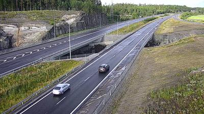 Current or last view from Kaarina: Tie 1 − Kirismäki − Turkuun