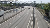 Kungsholmens stadsdelsomrade: Trafikplats Kristineberg s�dra (Kameran �r placerad p� E/E Essingeleden i h�jd med trafikplats Kristineberg och �r riktad Uppsala) - Jour