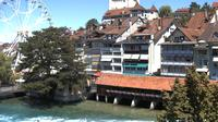 Thun: Innenstadt - Blick auf das Schloss - Dia