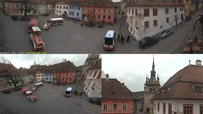 Daylight webcam view from Sighișoara: Piața Muzeului