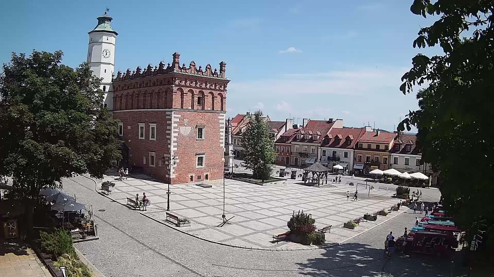 Webcam Sandomierz: Rynek w Sandomierzu