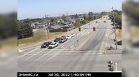 Delta > East: Hwy A, at Hwy  (Ladner Trunk Rd), looking east - El día