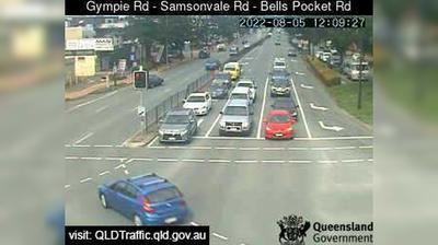 Daylight webcam view from Strathpine: Gympie Road − Sampsonvale Road − Bells Pocket Road (South)