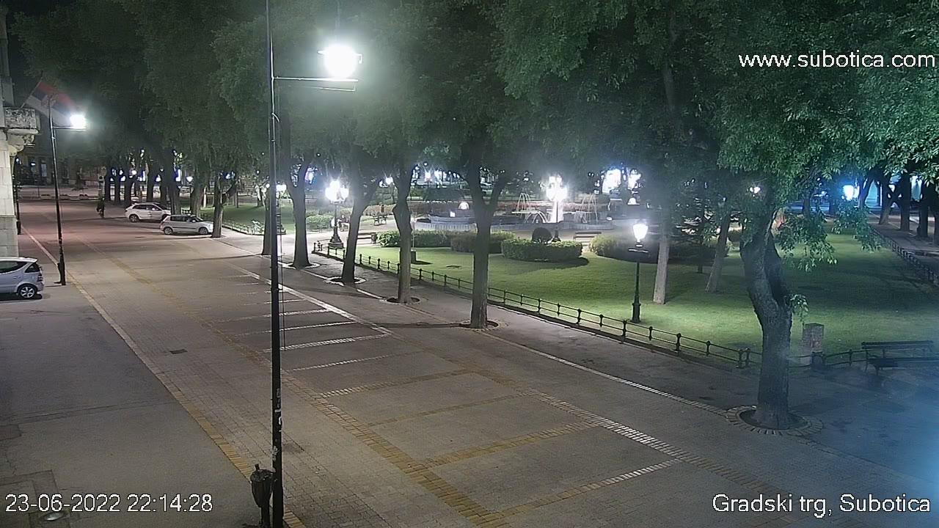 Webcam Subotica: town center (korzo)
