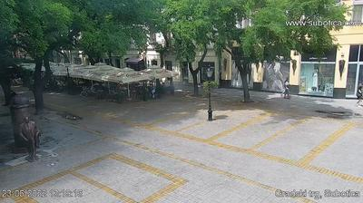 Vue webcam de jour à partir de Subotica: town center (korzo)