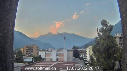 Bellinzona: Giubiasco Richtung Castelli di