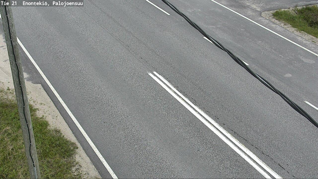Webcam Enontekiö: Tie21 Palojoensuu − Tienpinta